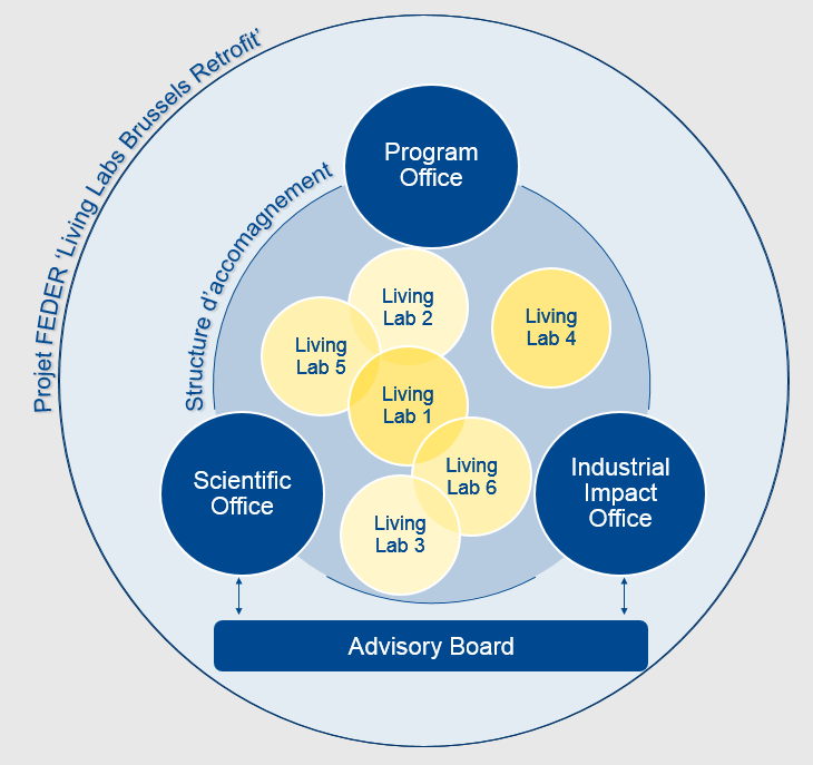 Structuur van het FEDER project